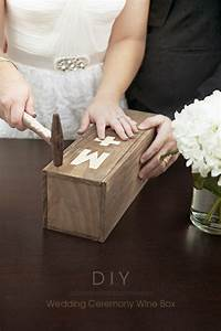 Make your own wedding ceremony wine box for Wedding wine box ceremony