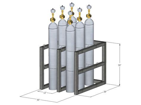 Nitrogen Cylinder Rack by Gas Cylinder Rack Barricade 6 Tanks 2x3 Br2x3fs