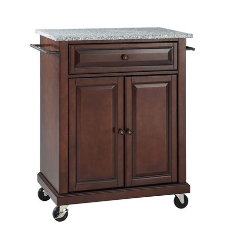 kitchen island shop crosley 28 1 4 in w solid granite top mobile kitchen