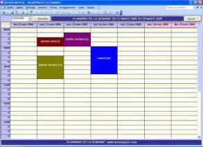 modele planning hebdomadaire gratuit planning gratuit