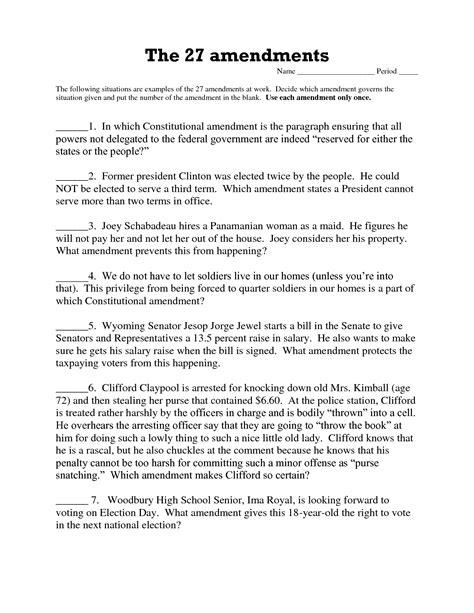 19 best of all amendment worksheet 27 amendments 27 amendments worksheet and