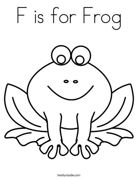 f is for frog coloring page twisty noodle preschool 840 | 3398cca536cda7bd7380c1a1a37e26aa