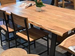 Table Bois Massif Metal : table bois zen ~ Teatrodelosmanantiales.com Idées de Décoration