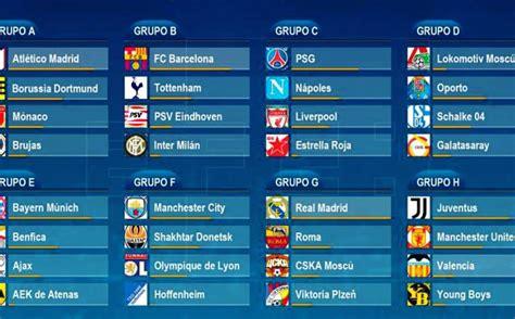 Calendario y horarios confirmados para la Champions League ...