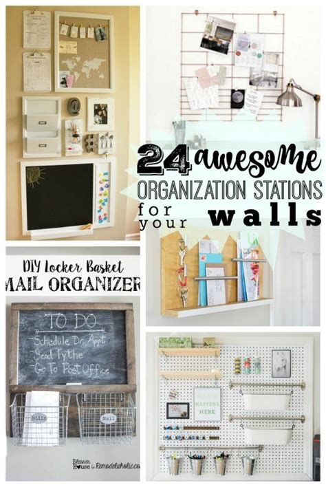 Kitchen Wall Organization Ideas by Get Organized This School Year With These Creative Diy