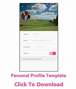 personal profile design templates - free android templates android app design app templates