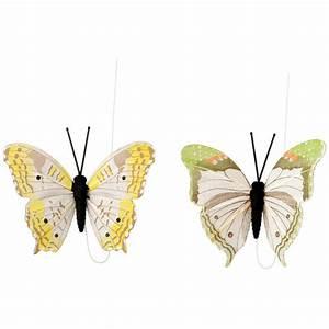 Schmetterlinge Als Deko : 4 deko schmetterlinge mit clip ernsting 39 s family ~ Lizthompson.info Haus und Dekorationen
