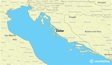 zadar croatia zadar zadarska map