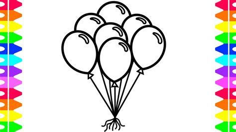 draw and color learn how to draw and color balloons coloring pages for