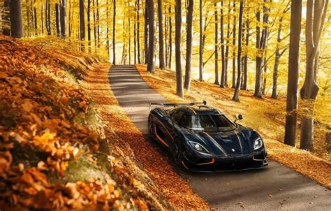 wallpaper autumn background koenigsegg supercar
