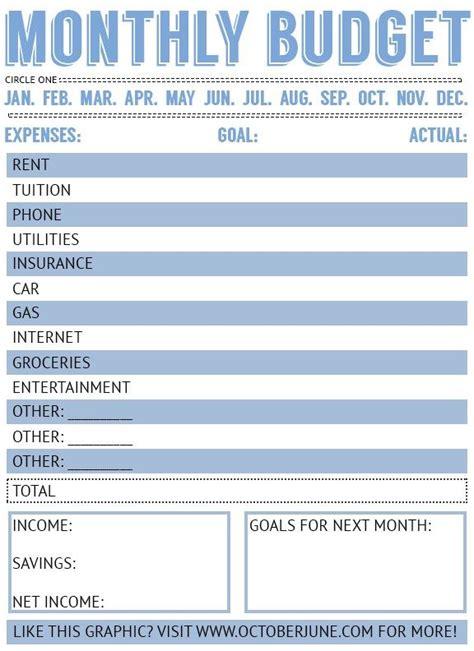 sticking   budget  printable budget worksheet
