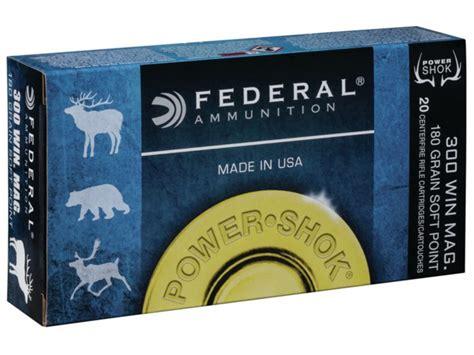 Federal Power-shok Ammo 300 Winchester Mag 180 Grain