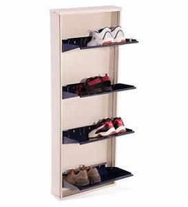 Nilkamal Estilo Blue 4 Door Metal Shoe Rack Best Deals