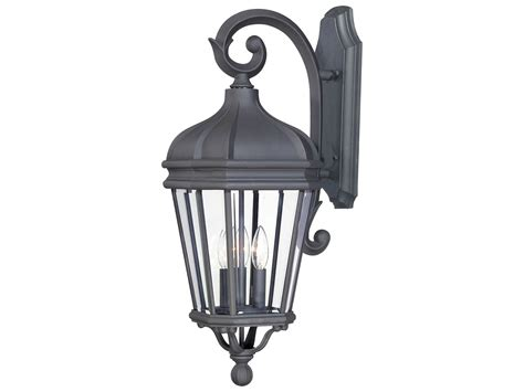 minka lavery harrison black three light outdoor wall light