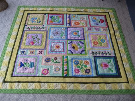the quilters garden stitcher s garden block of the month quilt things made by me pinterest gardens block of