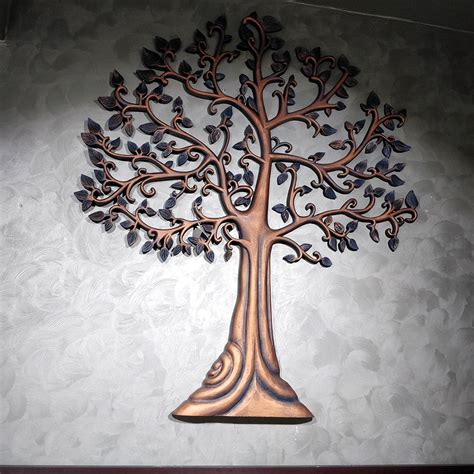 finely carved wooden tree  life tesor