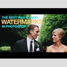The Best Way To Watermark Your Images In Photoshop Youtube
