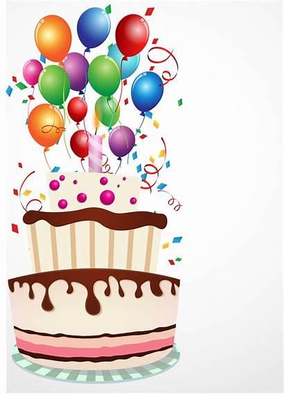 Cake Birthday Balloon Vector Clipart Graphics Vectors