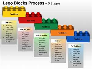 Stages Planning Lego Blocks Process 5 Stages Powerpoint Templates