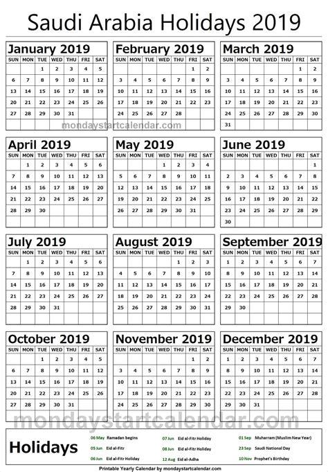 saudi arabia  calendar  holidays qualads