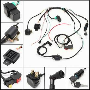 Motorcycle Cdi Wiring Harness Loom Solenoid Ignition Coil