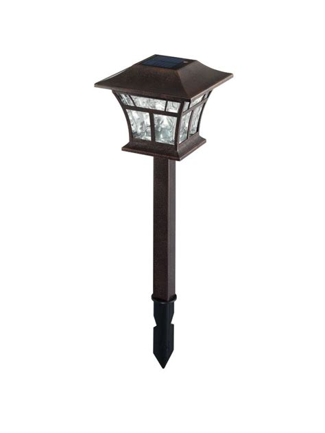 hton bay 4 pk solar landscape light the home depot canada
