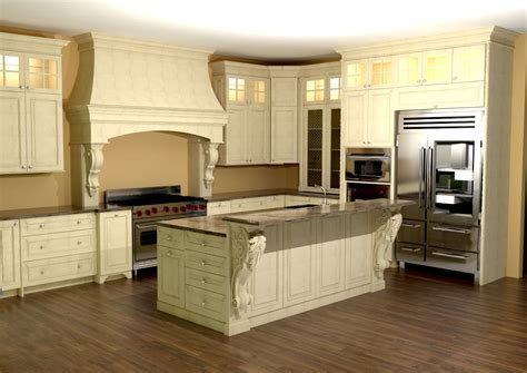 kitchen island with corbels large kitchen with custom features large enkeboll