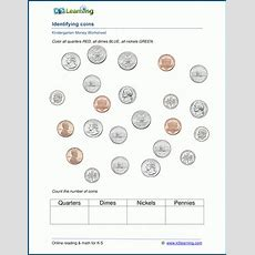 Identify Coins Money Worksheets  K5 Learning