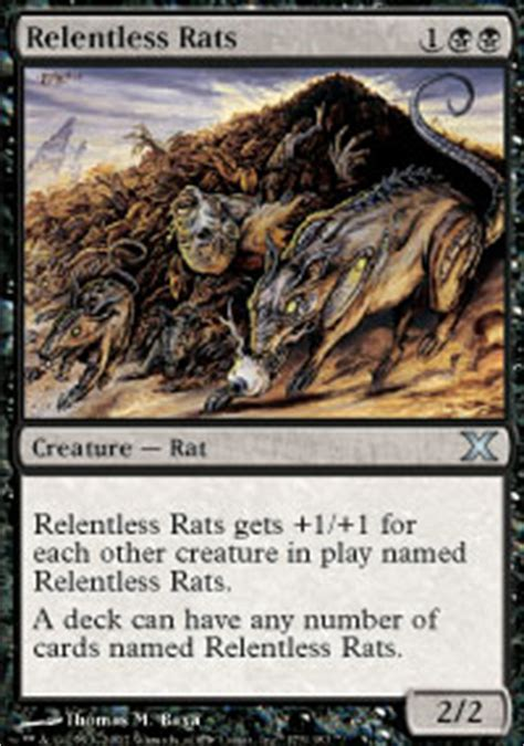 Rat Deck Mtg Tcgplayer by Relentless Rats 10th Edition Magic The Gathering