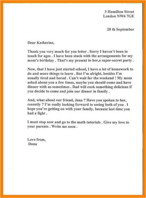 informal letter  ks