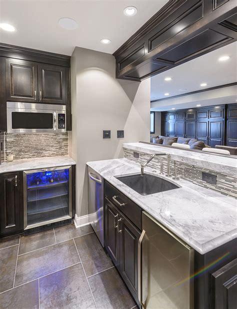 Arabesque White Bar   Contemporary   Kitchen   by