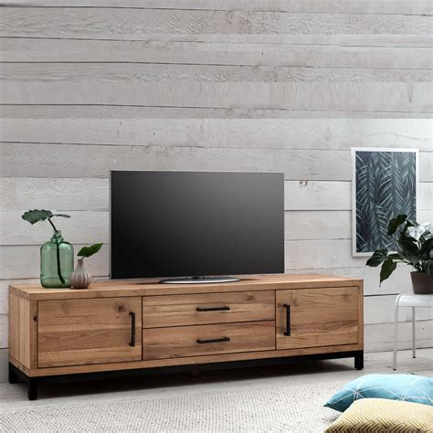 tv lowboard 200 cm tv lowboard bestano 200 x 50 x 55 cm eiche massivholz