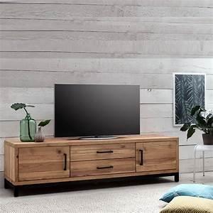 Lowboard Tv Holz : tv lowboard bestano 200 x 50 x 55 cm eiche massivholz ~ Orissabook.com Haus und Dekorationen