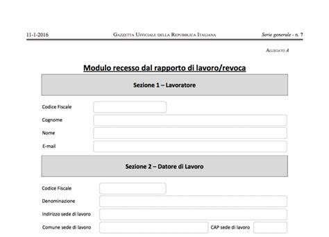 Lettere Dimissioni Volontarie by Dimissioni Volontarie Tutte Le Novit 224 Act 2016