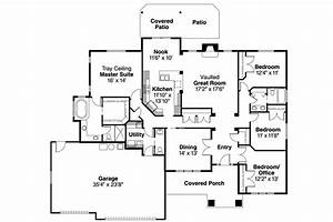 Craftsman house plans goldendale 30 540 associated designs for Home floor plans craftsman