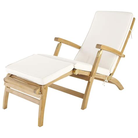 chaise pot white chaise longue mattress l 185 cm olé maisons