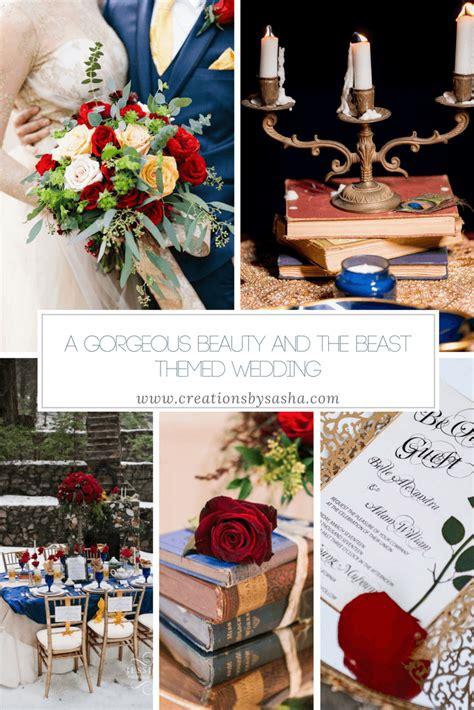 gorgeous beauty   beast themed wedding