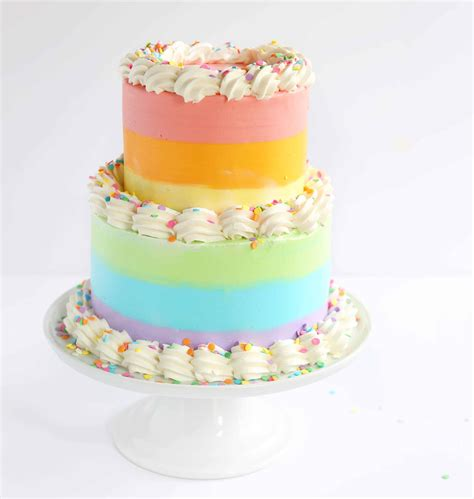 pastel rainbow cake   baker