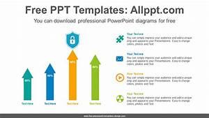 Arrow Vertical Bar Chart Powerpoint Diagram Template