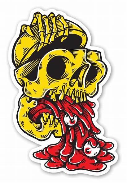 Stickers Stickerapp Reaper Vomiting Graffiti Innere Das