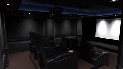 Theater 3d Render Future Columns Want Walls