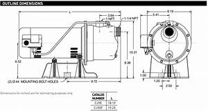 Sta Rite Cj Series Shallow Well Jet Pumps Dimensions