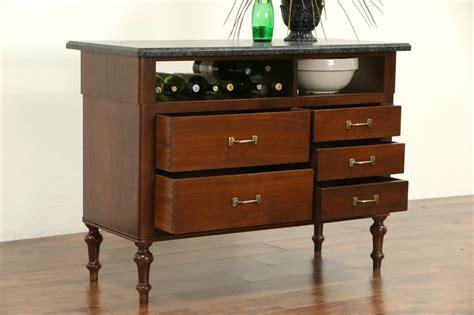 granite kitchen island table sold granite top walnut 1910 antique counter kitchen
