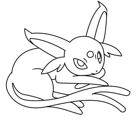 Pokemon Coloring Pages Espeon at GetColorings com Free