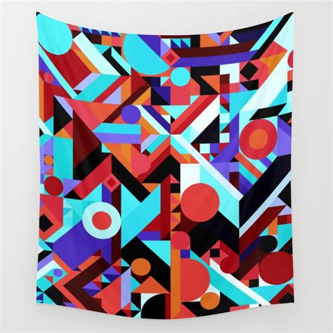 Abstract Black Shapes by Chaos Abstract Geometric Shapes Pattern Orange