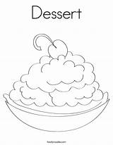 Coloring Dessert Happy Pages Colouring Ice Cream Drink Twistynoodle Cake Cherry Built California Usa Pie Designer Getcoloringpages Rights Noodle Birthday sketch template