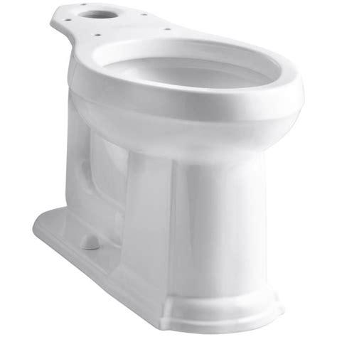 shop kohler devonshire white elongated chair height toilet