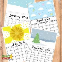 Kids Free Printable Calendars 2018