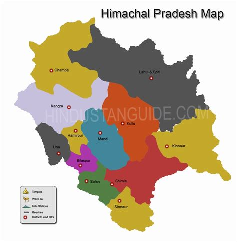 himachal pradesh map hd browse info  himachal pradesh