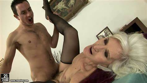 Grey Haired Gets Slender Anal With Prick